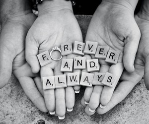 forever, ring, and wedding photo image