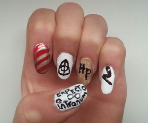 expecto patronum, harry potter, and nails image