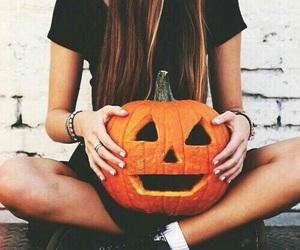 autumn, beautiful, and brunette image