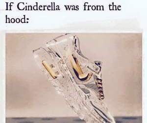 cinderella, nike, and funny image