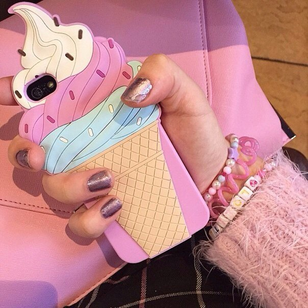 ice cream, iphone, and case image
