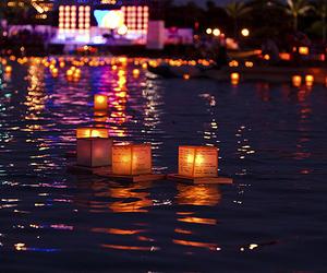 night, beautiful, and lanterns image