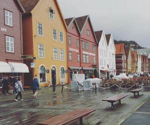 beautiful, bergen, and bridge image