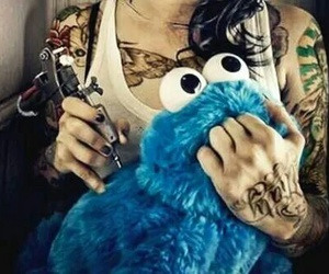 tattoo and cookie monster image