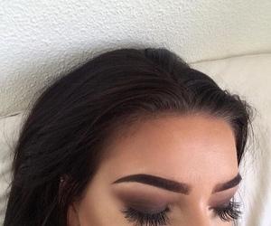 eyebrows, makeup, and contour image