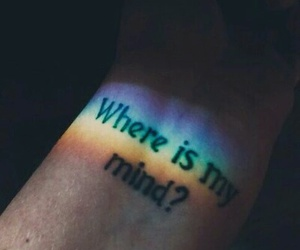 mind, rainbow, and tatto image