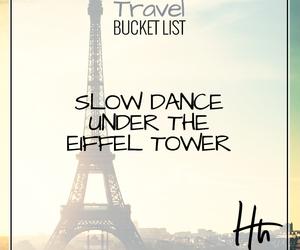 bucket, dance, and eiffeltower image