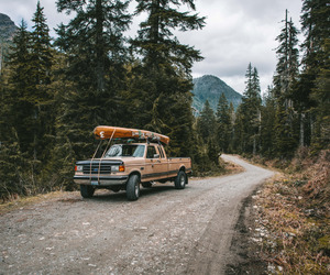 car, travel, and forest image