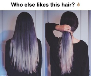 hair, black, and color image
