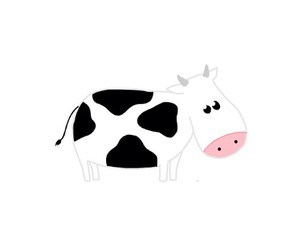 art, cow, and transparent image