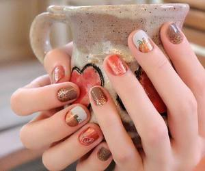 nail art, pumpkin spice, and apple cider image