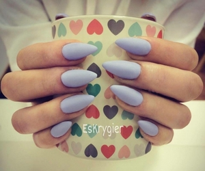 hearts, light blue, and lilac image