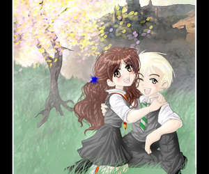 fan art, dramione, and harry potter image