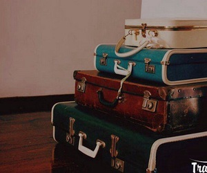 vintage, suitcase, and bag image