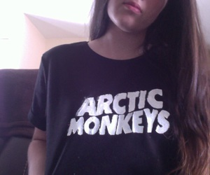 arctic monkeys, girl, and pale image