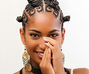 African, black girl, and hairstyle image