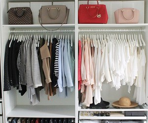 bag, closet, and fashion image