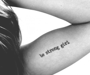 girl, strong, and Tattoos image