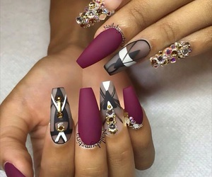 nails, pretty, and nail art image