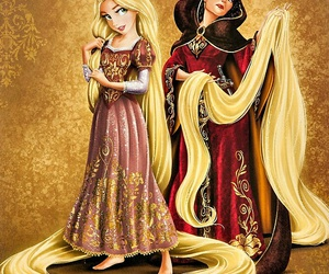 rapunzel, tangled, and mother gothel image