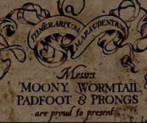 harry potter, the marauders, and prongs image