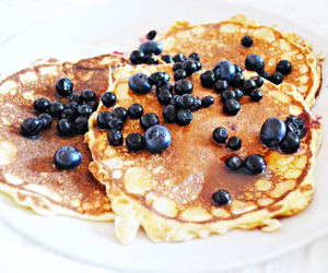food, pancakes, and blueberry image