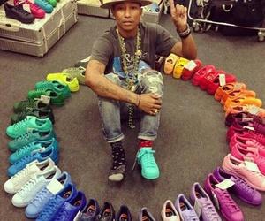 adidas, Pharrell Williams, and rainbow image