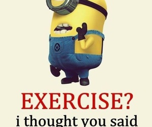 minions, funny, and exercise image