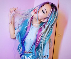 blue, braids, and pink image