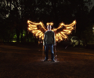wings, angel, and sparkler image