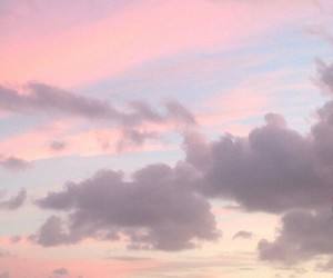 pink, sky, and pastel image