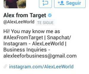 twitter, alex from target, and alexfromtarget image
