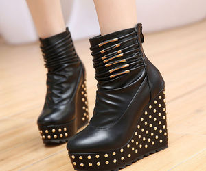 beautiful, black shoes, and shoes image