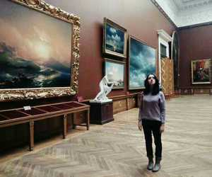 girl, museum, and russia image