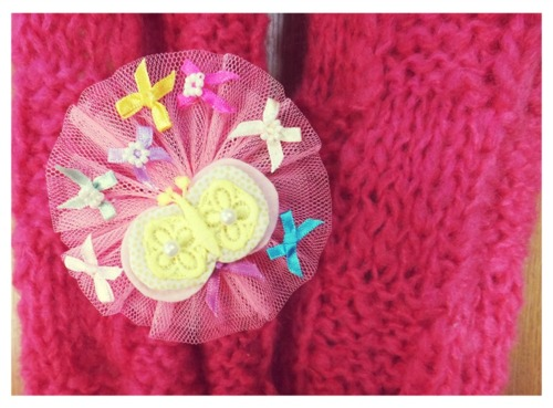 brooch, heart, and pink image