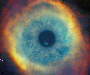 eye, galaxy, and eyes image