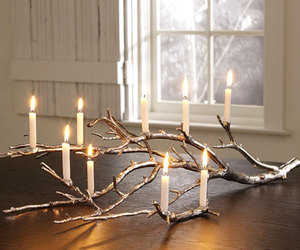 candlestick, tree, and winter image