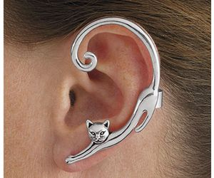 jewelry, cat, and piercing image