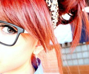 girl and red hair image
