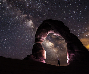 stars, galaxy, and nature image