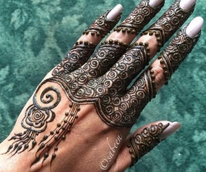 henna, her, and arabic hena image