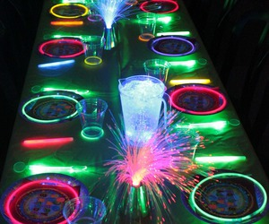 neon, party, and glow image