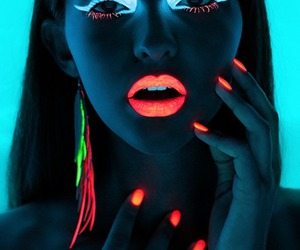 beautiful, neon, and nails image