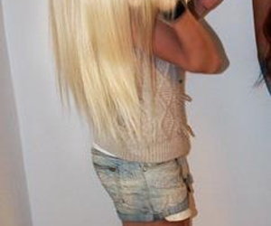 blonde, girl, and jeans image