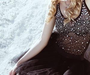 blonde, girl, and redlips image