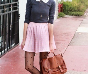 outfit, pink, and chic image