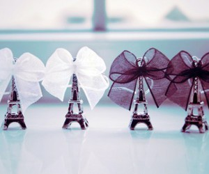 ribbon, hey!, and eiffel tower image