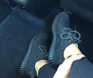 shoes, black, and adidas image