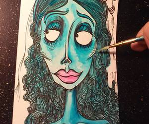 art, cartoons, and corpse bride image