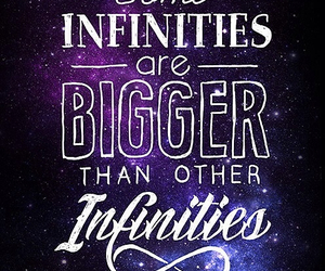 infinity, quotes, and galaxy image